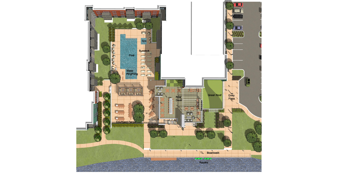 East Courtyard – Plan 1200